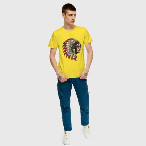 Мужская футболка хлопок Индеец Фото 01