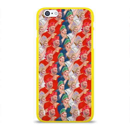 Чехол для Apple iPhone 6Plus/6SPlus силиконовый глянцевый Россия-Испания 2018 Фото 01