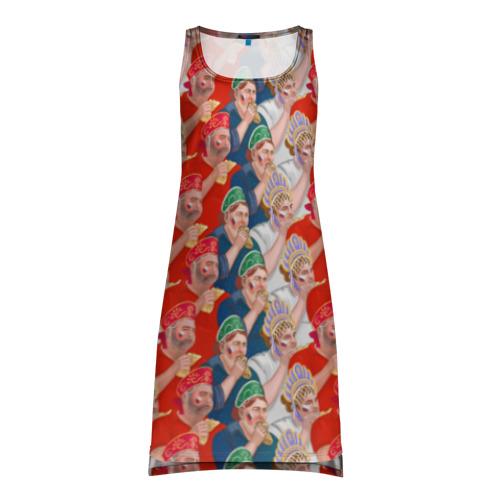 Платье-майка 3D Россия-Испания 2018