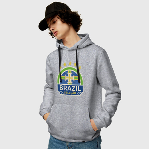 Мужская толстовка хлопок Футбол - Бразилия Фото 01