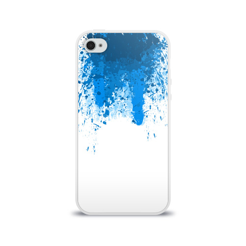 Чехол для Apple iPhone 4/4S силиконовый глянцевый КРОВЬ АНДРОИДА  Фото 01