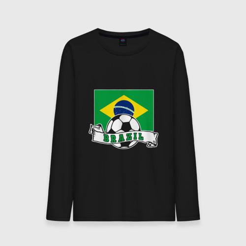 Мужской лонгслив хлопок Футбол - Бразилия Фото 01