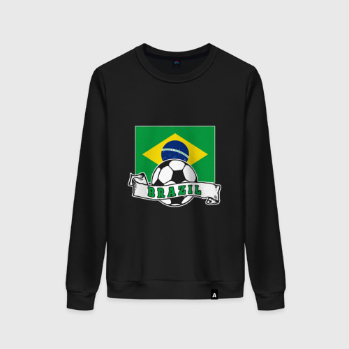 Женский свитшот хлопок Футбол - Бразилия Фото 01