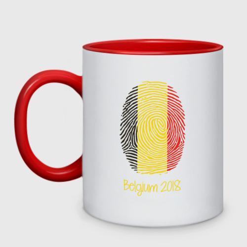 Кружка двухцветная Бельгия
