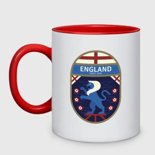 Кружка двухцветная Футбол - Англия