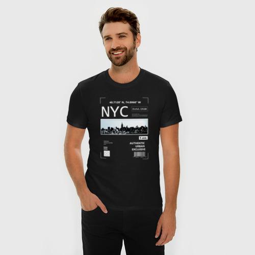 Мужская футболка премиум Нью Йорк Фото 01