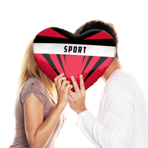 Подушка 3D сердце  Фото 03, Sport
