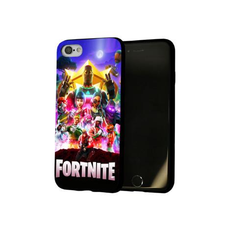 Чехол для Apple iPhone 7/8 soft-touch NEW Fortnite Королевская Битва Фото 01