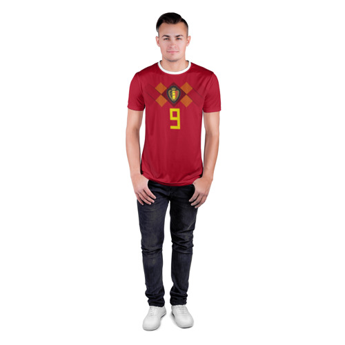 Мужская футболка 3D спортивная  Фото 04, Lukaku WC 2018