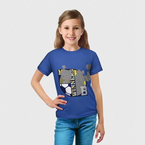 Детская футболка 3D  Фото 03, Маша и Медведь Winners