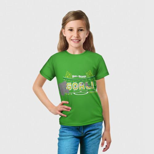 Детская футболка 3D  Фото 03, Маша и Медведь Goal!