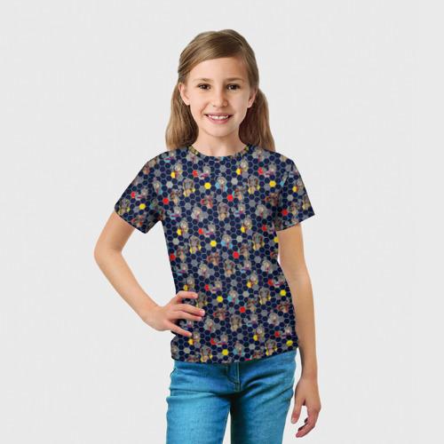 Детская футболка 3D  Фото 03, Маша и Медведь