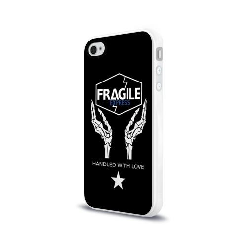 Чехол для Apple iPhone 4/4S силиконовый глянцевый FRAGILE EXPRESS Фото 01