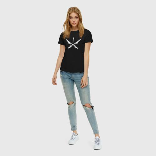 Женская футболка хлопок Радар за  1150 рублей в интернет магазине Принт виды с разных сторон