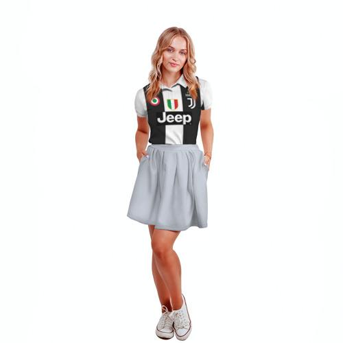 Женская рубашка поло 3D Форма Ювентуса 18-19 Фото 01