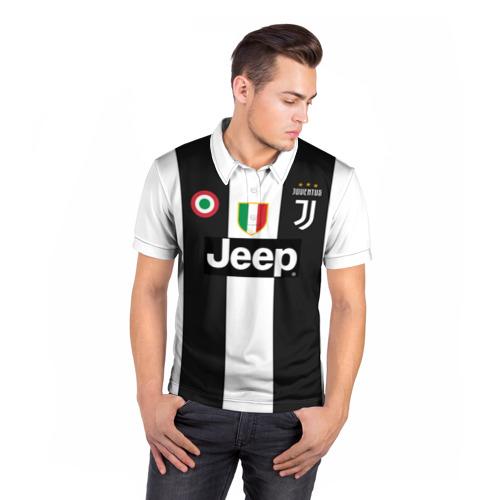 Мужская рубашка поло 3D Форма Ювентуса 18-19 Фото 01
