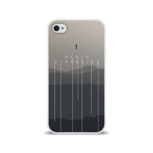 Чехол для Apple iPhone 4/4S силиконовый глянцевый DEATH STRANDING  Фото 01