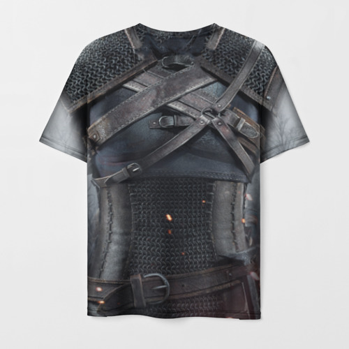 Мужская футболка 3D Геральт | снаряжение Фото 01