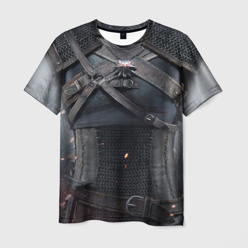 Мужская футболка 3D Геральт