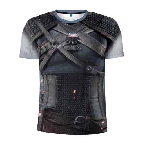 Мужская футболка 3D спортивная Геральт | снаряжение Фото 01