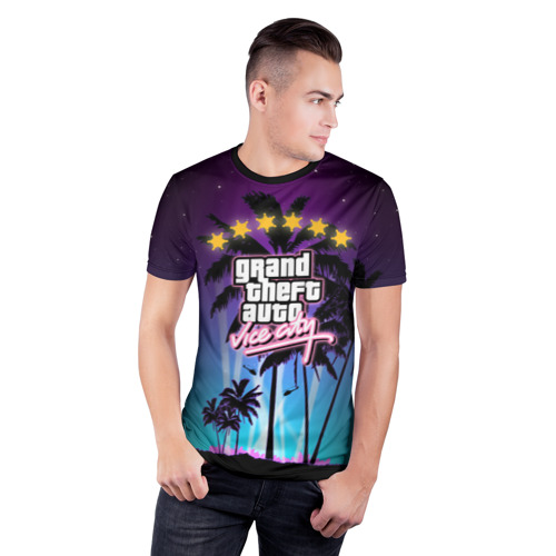 Мужская футболка 3D спортивная  Фото 03, GTA Vice City