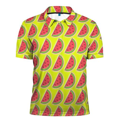 Мужская рубашка поло 3D Арбуз