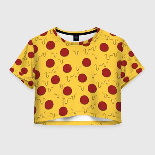Женская футболка Cropp-top Pizza