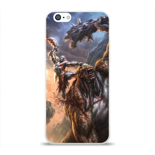Чехол для Apple iPhone 6 силиконовый глянцевый Кратос и Циклоп Фото 01