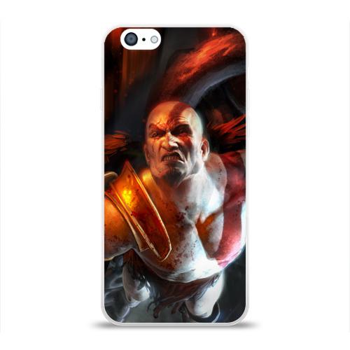 Чехол для Apple iPhone 6 силиконовый глянцевый Генерал Кратос Фото 01