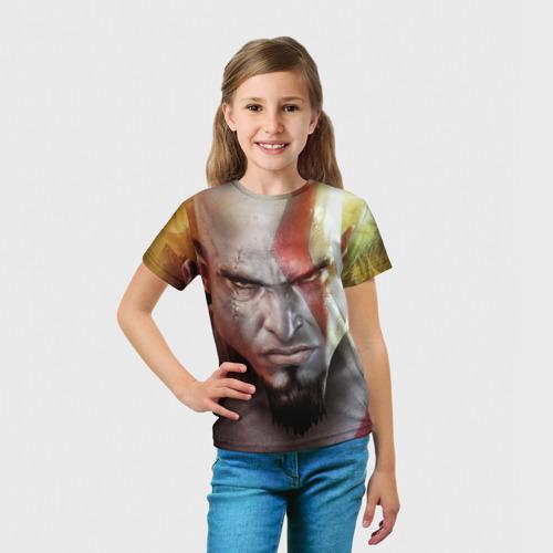 Детская футболка 3D  Фото 03, Кратос