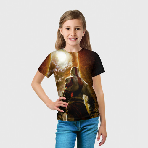 Детская футболка 3D  Фото 03, Генерал Кратос