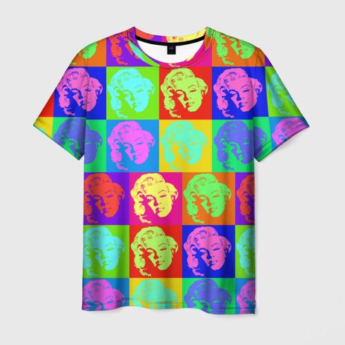 Мужская футболка 3D  Фото 03, pop-art Marilyn Monroe