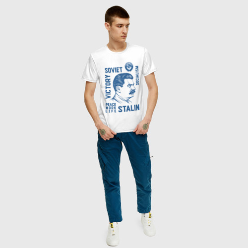 Мужская футболка хлопок Сталин Фото 01