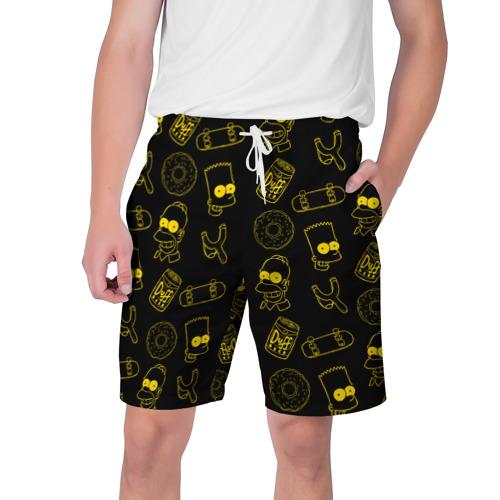 Мужские шорты 3D Барт и Гомер