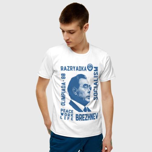 Мужская футболка хлопок Брежнев Фото 01