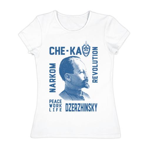 Женская футболка хлопок Дзержинский Фото 01