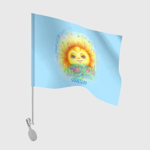 Флаг для автомобиля  Фото 01, Солнечный город