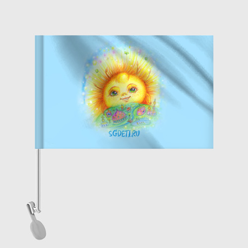 Флаг для автомобиля  Фото 02, Солнечный город