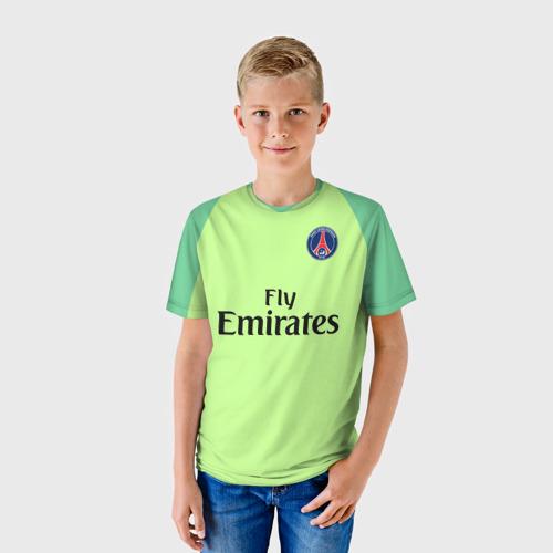 Детская футболка 3D ПСЖ Буффон 2018/2019 (форма)