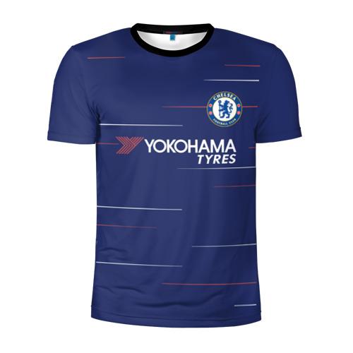 Мужская футболка 3D спортивная Азар Челси 18-19