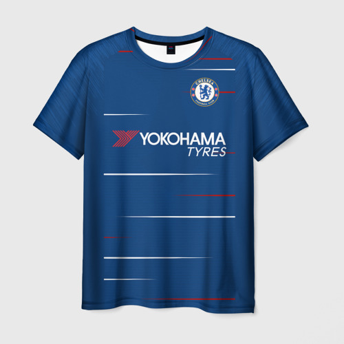 Мужская футболка 3D  Фото 03, Chelsea home 18-19