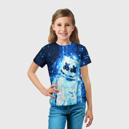 Детская футболка 3D  Фото 03, Marshmello