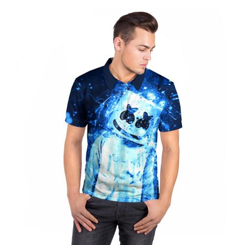 Мужская рубашка поло 3D Marshmello Фото 01