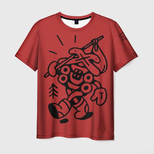 Мужская футболка 3D  Фото 03, Избушка