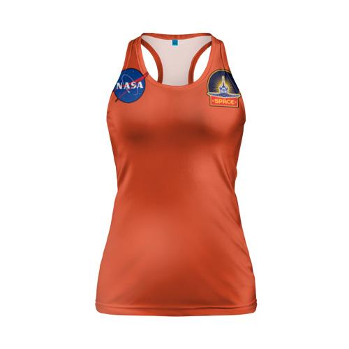 Женская майка 3D спортивная NASA Фото 01