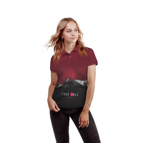Женская рубашка поло 3D  Фото 03, Free fall