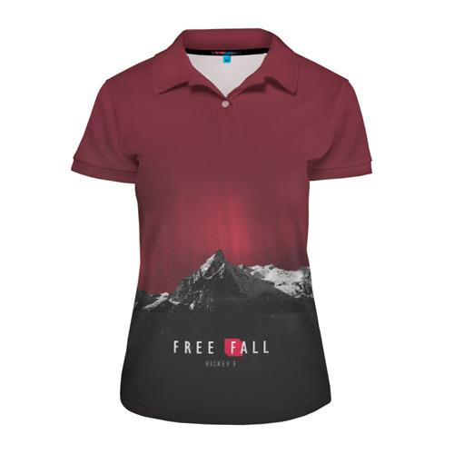 Женская рубашка поло 3D  Фото 01, Free fall