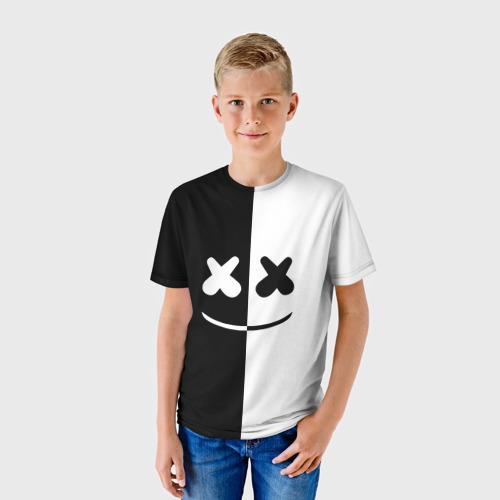 Детская футболка 3D MARSHMELLO BLACK & WHITE
