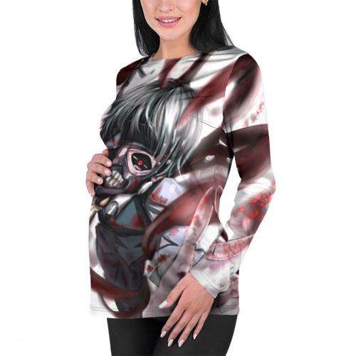 Женский лонгслив 3D для беременных  Фото 01, Канеки Кен