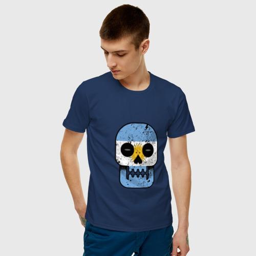 Мужская футболка хлопок  Фото 03, Череп - Аргентина